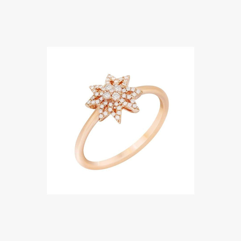 Diamond Star Pink Gold Ring - Natkina