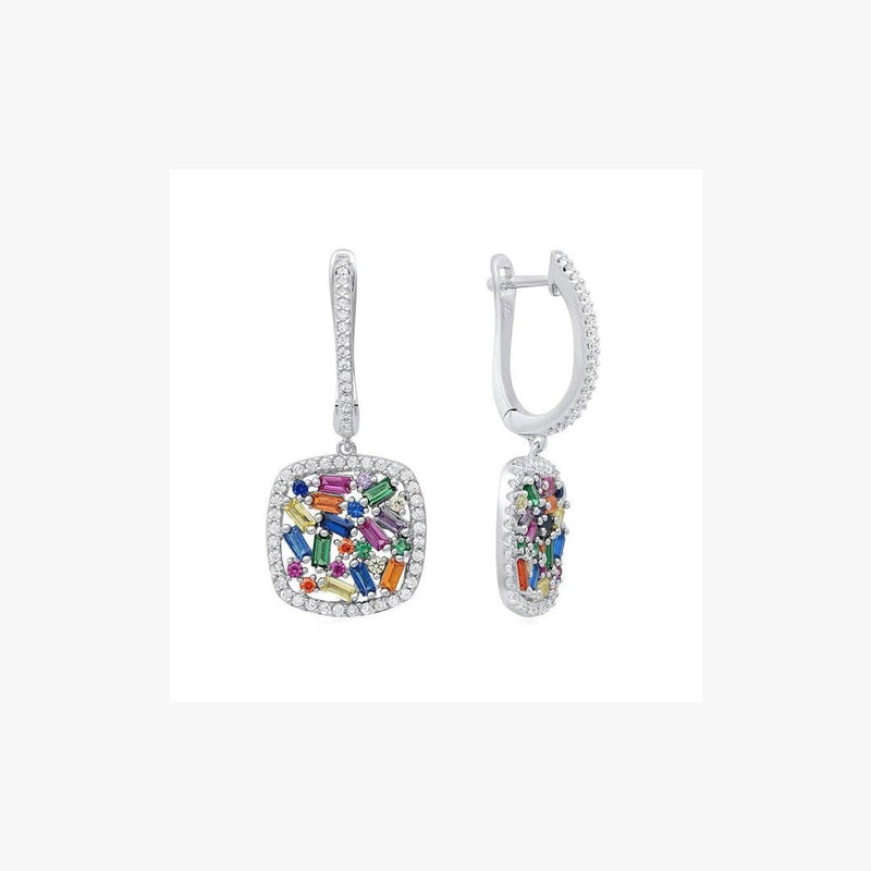 Dormeuse Confetti Square Earrings - Natkina