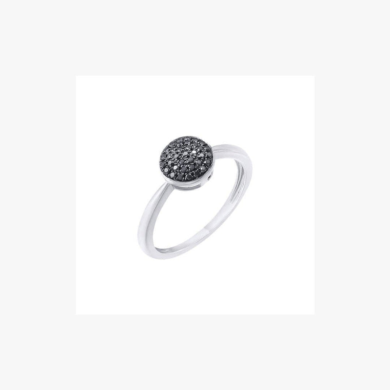 Elegant White Gold Black Diamond Ring - Natkina