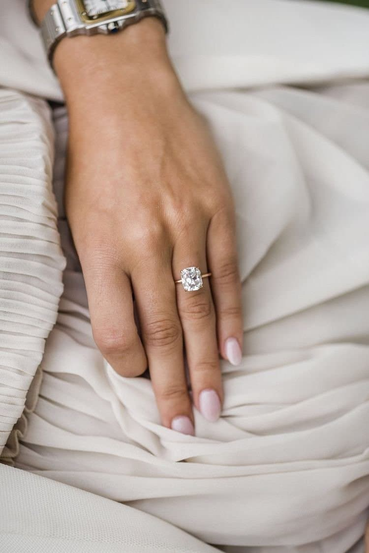 Engagement Ring Cushion Diamond Cut - Natkina