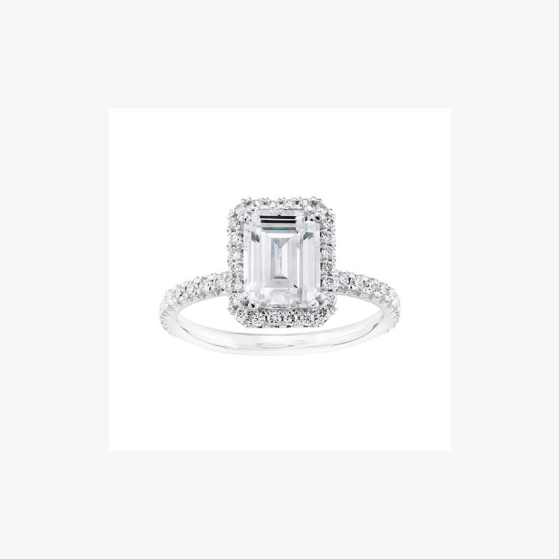 Engagement Ring Emerald Diamond Cut - Natkina