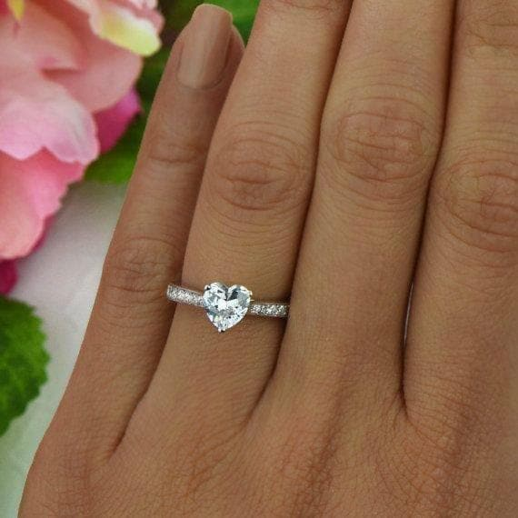 Engagement Ring Heart Diamond Cut - Natkina