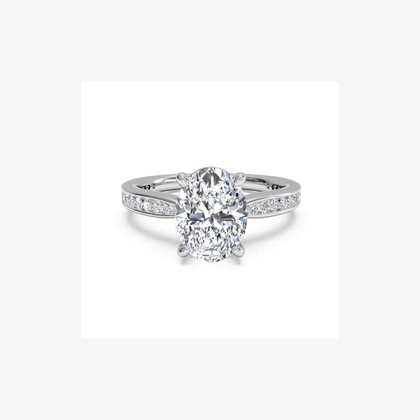 Engagement Ring Oval Diamond Cut - Natkina