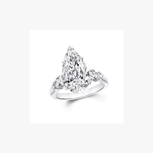 Engagement Ring Pear Diamond Cut - Natkina