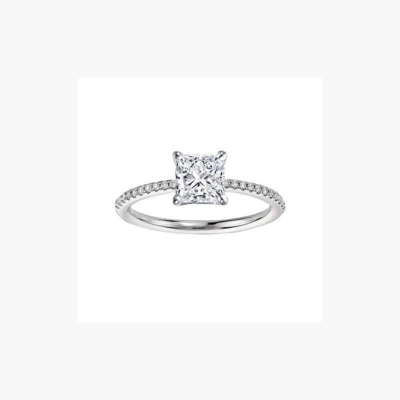 Engagement Ring Princess Diamond Cut - Natkina
