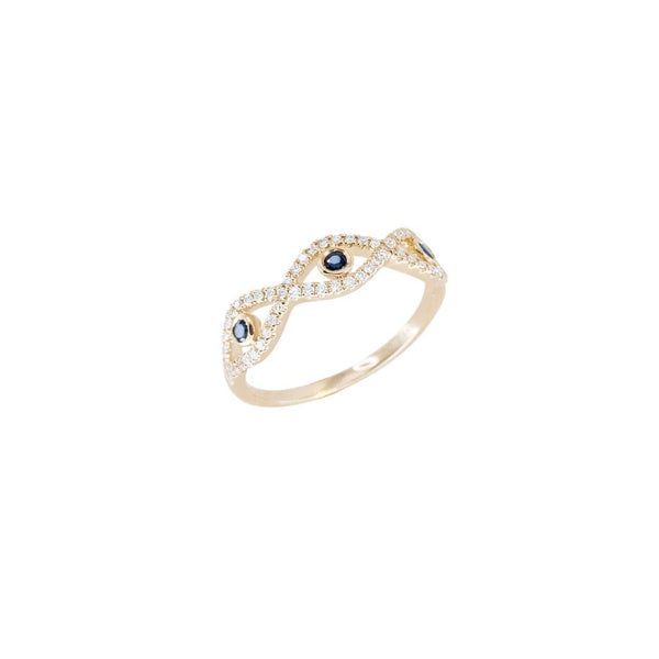 Evil Eye Infinity Gold Ring - Natkina