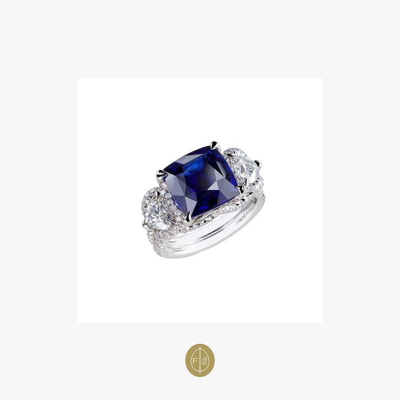 Fabergé Collection Three Colors of Love Gubelin Cert 6.01 Carat Sapphire Ring - Natkina