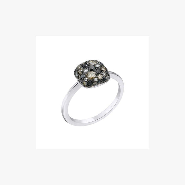 Fashion Diamond White Gold Ring - Natkina