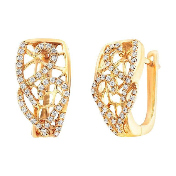 Fine Jewellery Diamond Yellow Gold Earrings - Natkina