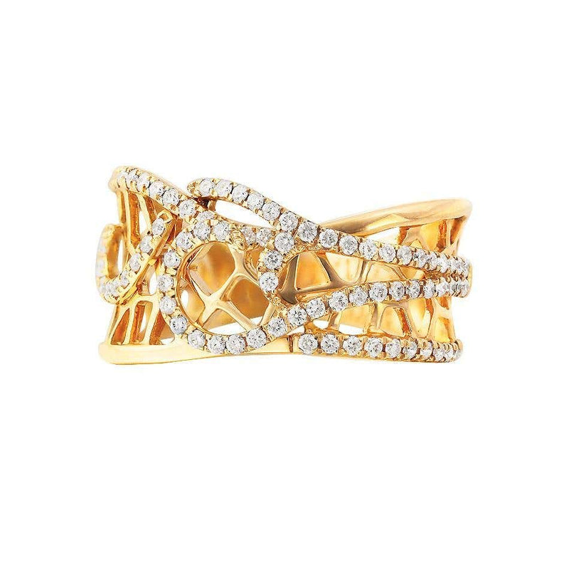 Fine Jewellery Diamond Yellow Gold Ring - Natkina