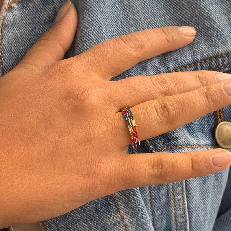 Fine Rainbow Ring - Natkina