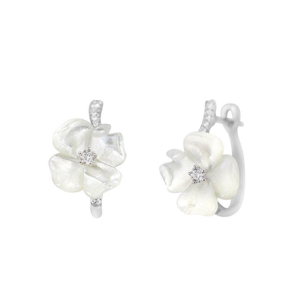 Flower Mother of Pearl Earrings - Natkina