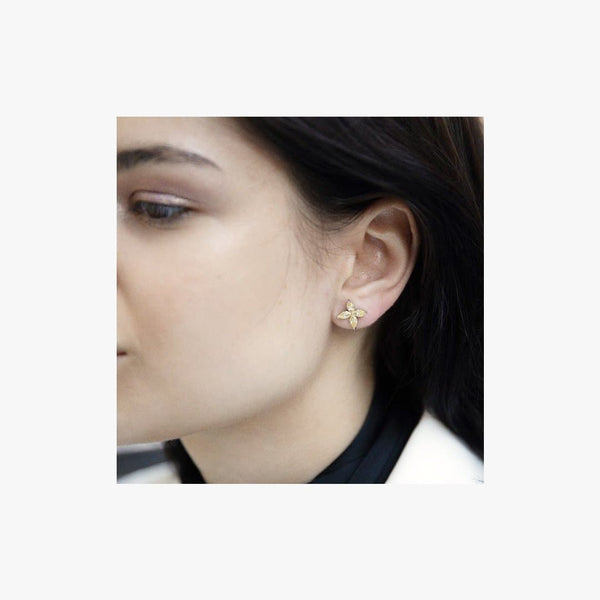 Flower Silver Stud Earrings - Natkina