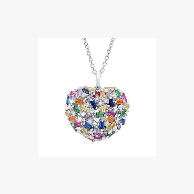 Heart Rainbow Necklace - Natkina