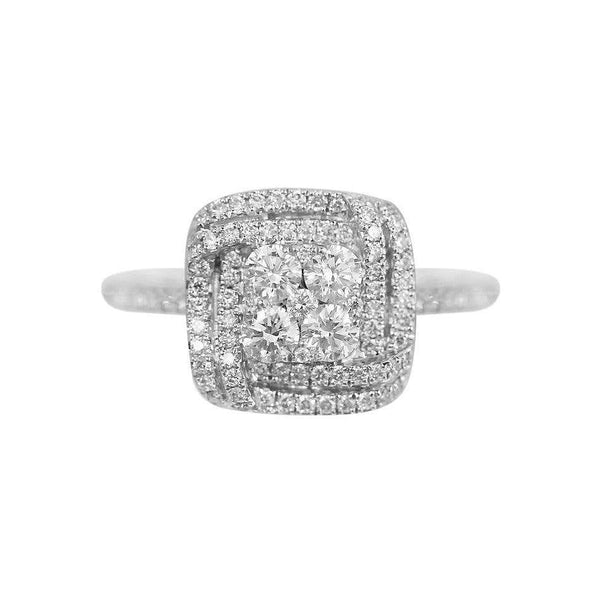 Impressive Classic Diamond White Gold Ring - Natkina