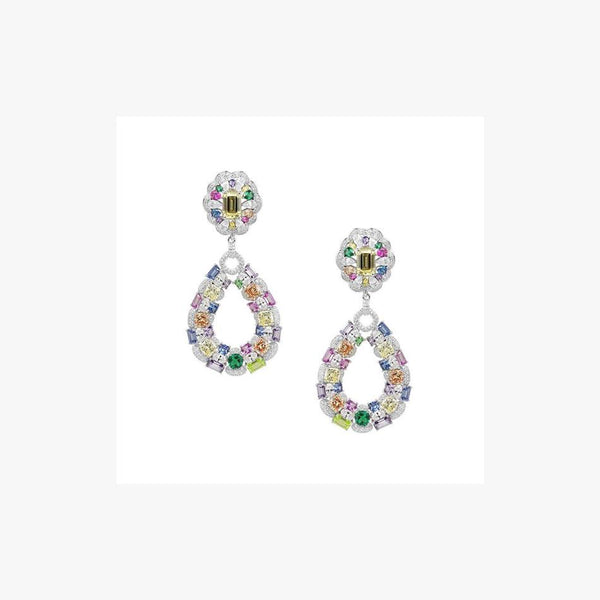 Multicolour Silver Earrings Joelle