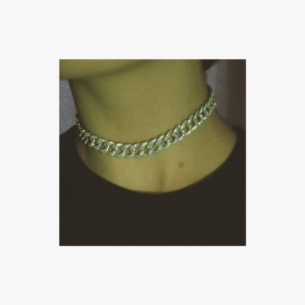 Long Chunky Curb Chain Necklace - Natkina