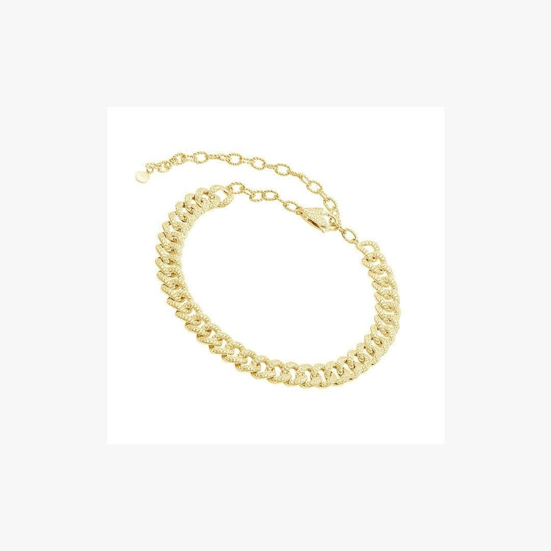 Long Chunky Curb Chain Silver Necklace - Natkina