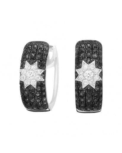 Long Star Black Diamond Earrings - Natkina