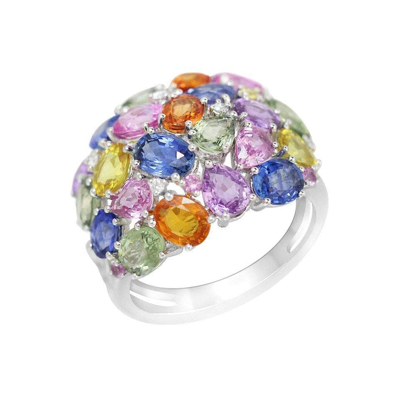 Multicolour White Gold Ring - Natkina