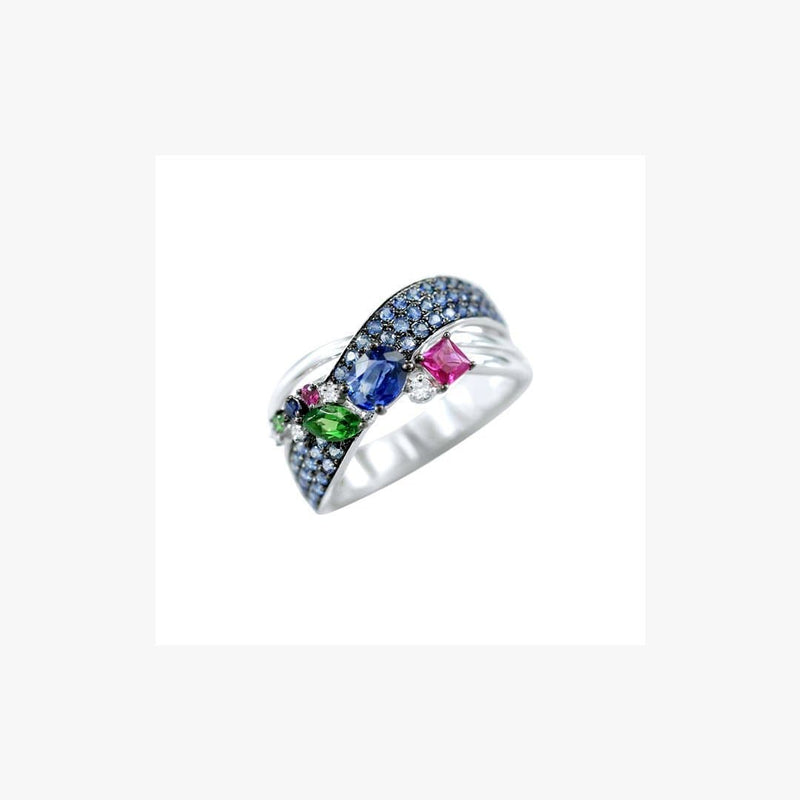 Multisapphire collection blue ring - Natkina
