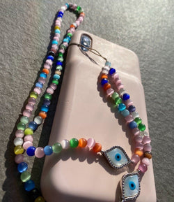 Opal Evil Eye Phone Necklace - Natkina