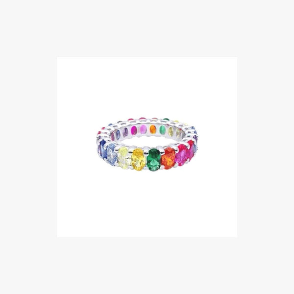 Oval Infinity Rainbow Ring - Natkina