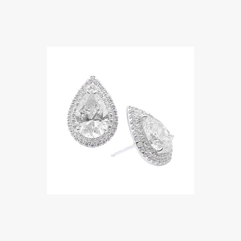 Pear Stone Silver Earrings Baby Essenia - Natkina