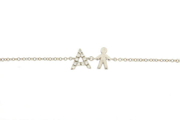 Personalized Diamond Bracelet & Boy Charm - Natkina