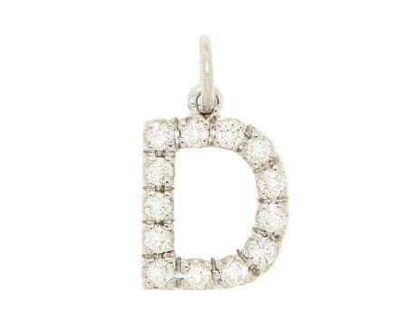 Personalized Diamond Pendant Big Letter - Natkina