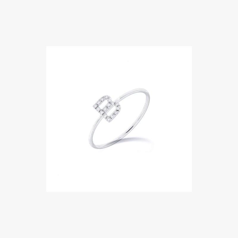Personalized Diamond Ring 1 letter - 7mm - Natkina