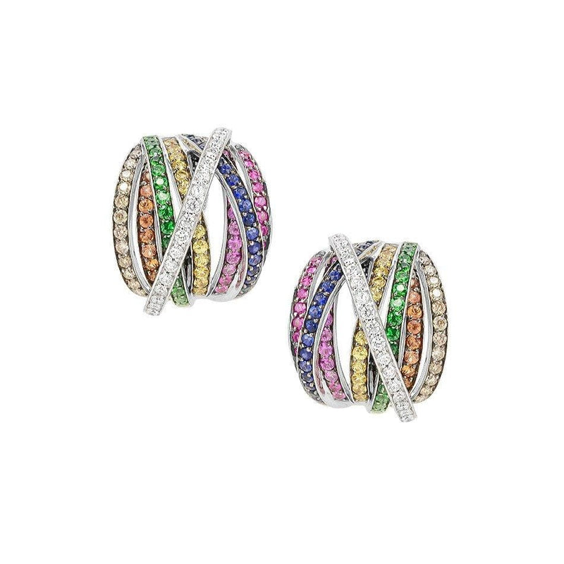 Rainbow Firework Diamond Earrings - Natkina
