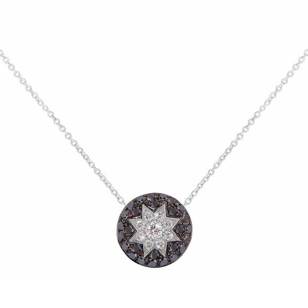 Round Star Black Diamond Necklace - Natkina