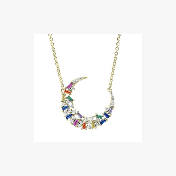 Semi-Moon Rainbow Necklace - Natkina
