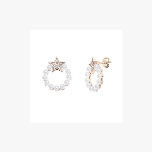 Shana Pearl Silver Earrings