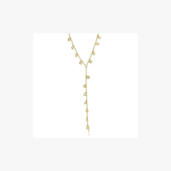 Splashes of Champagne Dangle Necklace - Natkina