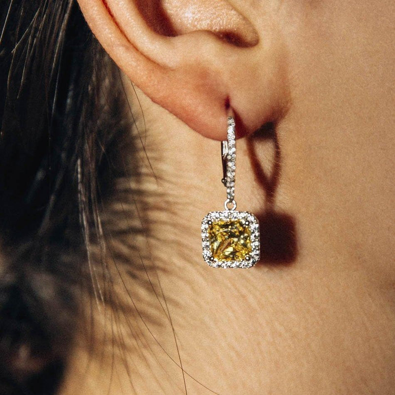 Square dormeuse earrings - Natkina