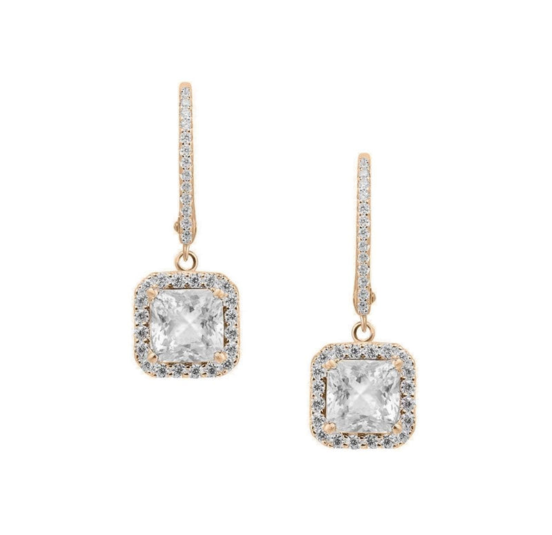 Square Silver Leverback Earrings - Natkina