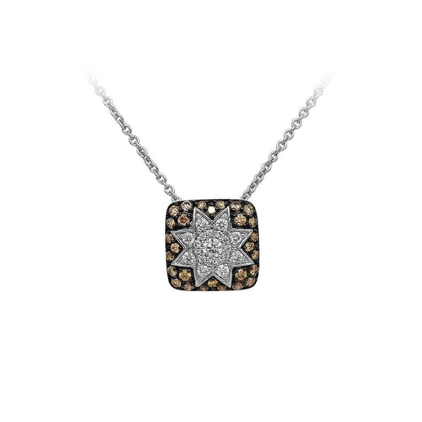 Square Star Champagne Diamond Necklace - Natkina
