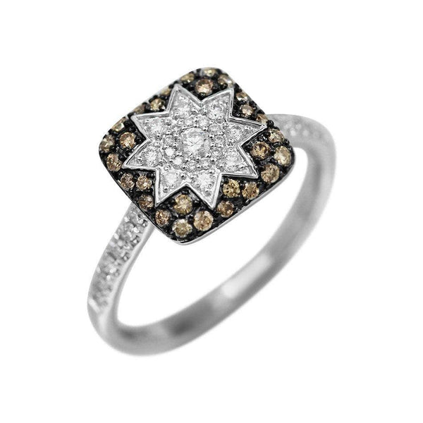 Square Star Champagne Diamond Ring - Natkina
