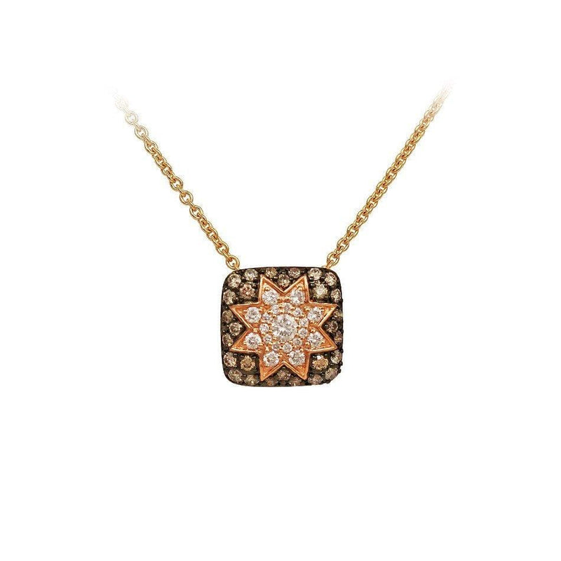Square Star Necklace Champagne Diamond - Natkina