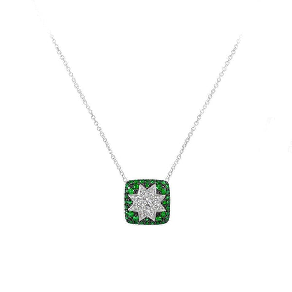 Square Star Necklace Tsavorite - Natkina