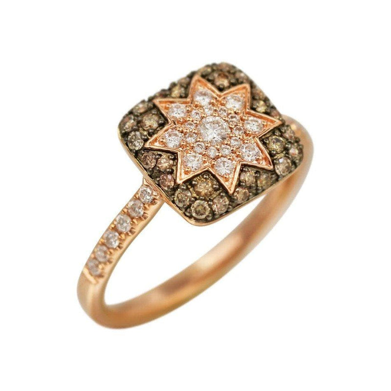 Square Star Ring Champagne Diamond - Natkina