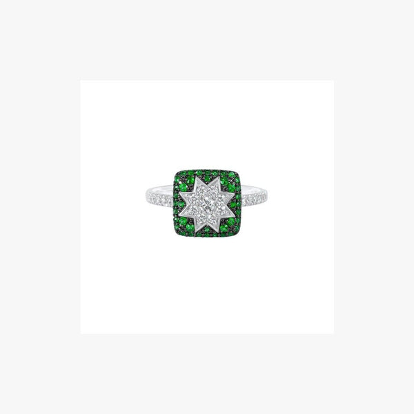 Square Star Ring Tsavorite - Natkina