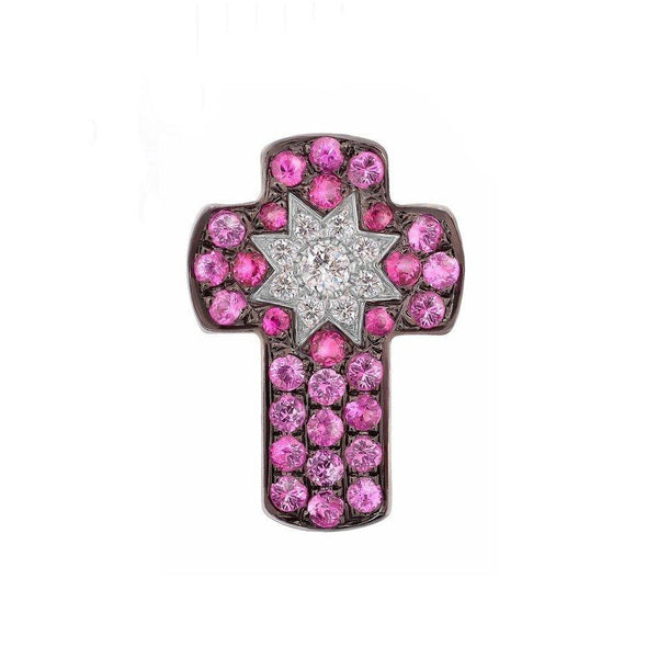 Star Cross Pendant Ruby - Natkina