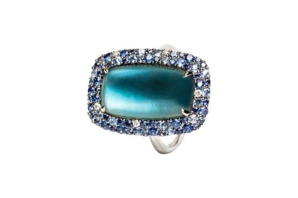 Topaz Mother of Pearl Ring - Natkina