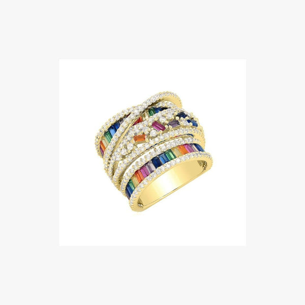 Wide Rainbow Ring - Natkina