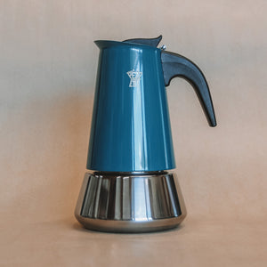 Stainless Steel Stove Top / Moka Pot Teal Blue