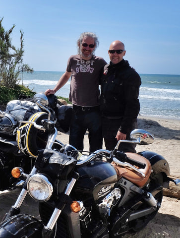 Tim and me in California at the end of our USA coast to coast ride.