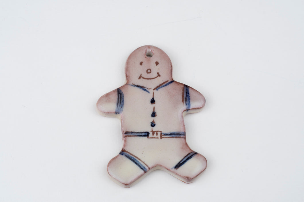 Gingerbread man tree ornament